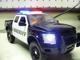Ford Raptor Truck Black - ed u0027s custom sheriff u0027s department ford raptor w working lights