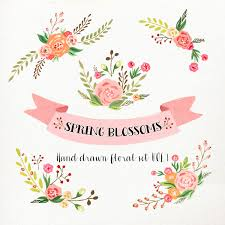 Wedding Flowers Drawing Watercolor Flower Clipart Wedding Floral Clip Art Floral