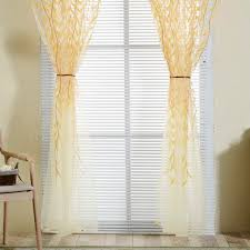 aliexpress com buy pastoral style willow floral window curtain