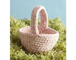 basket easter easter basket pattern crochet lion brand yarn