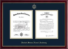 diploma frame united states naval academy gold embossed diploma frame in