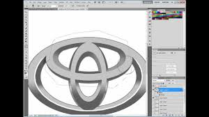 toyota logo how to make toyota logo in photoshop youtube