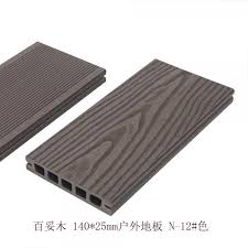 wood grain black pvc pe composite deck boards environmentally