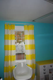 Yellow Striped Curtains Diy Striped Curtains No Sew Design Dazzle