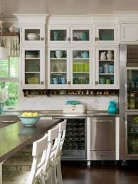 glass kitchen cabinets ideas china cabinet and glass display for a bright kitchen