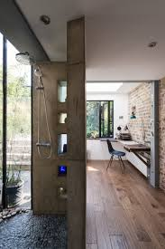 Home Office London by A Light Filled Writing Studio Plus Outdoor Shower For A London