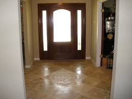 Foyer Flooring Ideas Mosaic Tile Pattern Entry Way Stunning Travertine Mosaic And