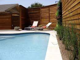 traditional pool renovation modern fence