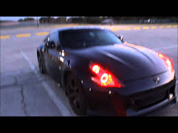 custom nissan 370z nissan 2010 370z custom blacked out housings w red halo lights