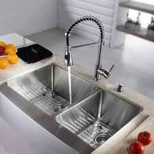 commercial style kitchen faucets kraus 36 inch farmhouse bowl stainless steel kitchen sink