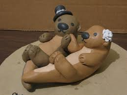otter cake topper otter wedding cake topper angle by artiemei on deviantart