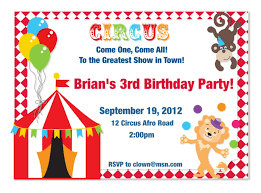 circus invitation ideas circus invitations circus birthday