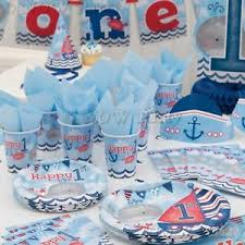 nautical party supplies 1st birthday boys blue nautical party supplies tableware