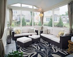 enclosed patio ideas porch traditional with wood sofa brick