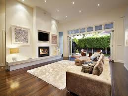 Comfortable Family Room Renovation Design With Light Brown Sofa - Family room renovation ideas