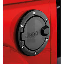 mopar jeep logo mopar 82210285ac wrangler jk fuel door satin black with jeep logo