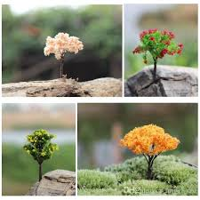 2018 mini tree figurines diy insects terrarium micro landscape