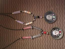 halloween bottle cap necklace dianne faw
