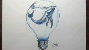in light bulbs drawing a whale in a light bulb youtube