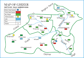 Karakoram Range Map Ghizer Valley