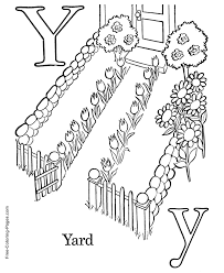 coloring pages y is for yard