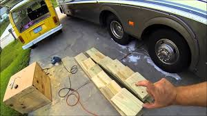 Design Your Own Motorhome by Diy How To Build Rv Leveling Ramps Youtube