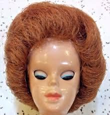 bubble cut hair style vintage mattel miss barbie doll wig only titan bubble cut tight