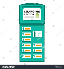 vector illustration phone charging station stock vector 571538335