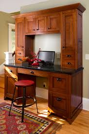 Mission Style Desks For Home Office Craftsman Home Office Idea With Hardwood Working Desk Medium