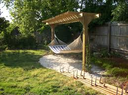 pergola with hammock backyard ideas pinterest pergolas