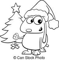 vector clipart coloring book tree snow duri coloring