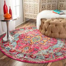 7 Round Area Rug Persian Style Round Area Rug Round Area Rugs Pinterest Round