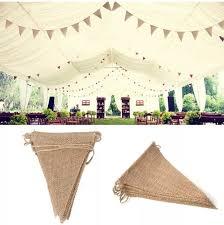 guirlande fanion mariage lot de 3 guirlandes fanions bannière en toile de jute décoration