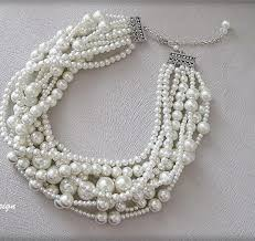chunky necklace pearl images Bridal pearl chunky necklace chic selections shop jpg
