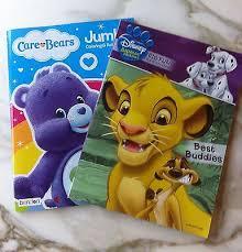 2 coloring books care bears jumbo harmony bear disney animal