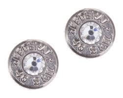 bullet stud earrings lizzy j s silver tone bullet casing stud earrings with