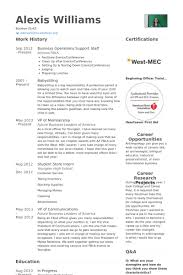 Sample Resume Business by Support Staff Resume Samples Visualcv Resume Samples Database
