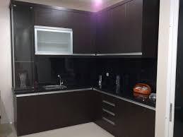 Kitchen Set Minimalis Hitam Putih Hpl Nelsinterior
