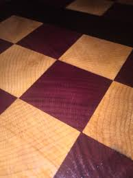 wenge purple heart and maple cutting board woodworking