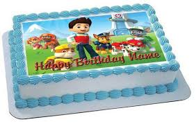 paw patrol 2 edible birthday cake cupcake topper u2013 edible