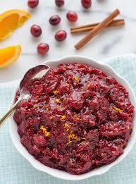 cranberry sauce with orange and honey