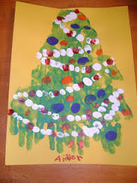 bits and pieces handprint footprint christmas craft for kids