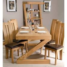 Solid Oak Dining Room Furniture Z Solid Oak Designer Large Dining Table Plus Chairs