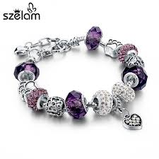 snake bracelet charms images Szelam gift fashion diy crystal glass beads charm bracelets for jpg