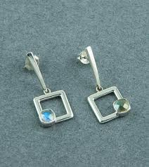 dangler earrings buy deco square drop dangler earrings in labradorite online india