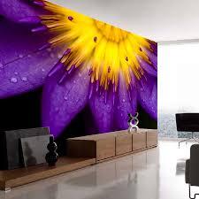 popular sunflower wall murals buy cheap sunflower wall murals lots shinehome purple sunflower flower natural non woven 3d wallpaper wallpapers for 3 d living room