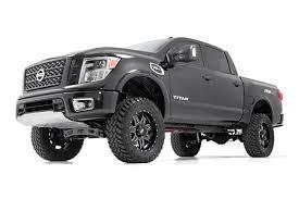 nissan titan rear axle 6in suspension lift kit for 2017 4wd nissan titan pickups rough