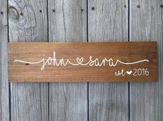 wedding gift name sign wooden wedding sign custom name sign personalized wedding gift