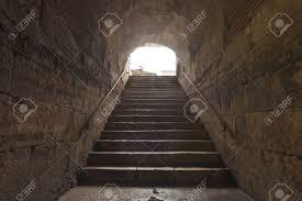 old stone stairs in basement in split croatia stock photo