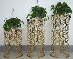 flower stand modern gold stainless steel indoor flower stand hotel flower stand
